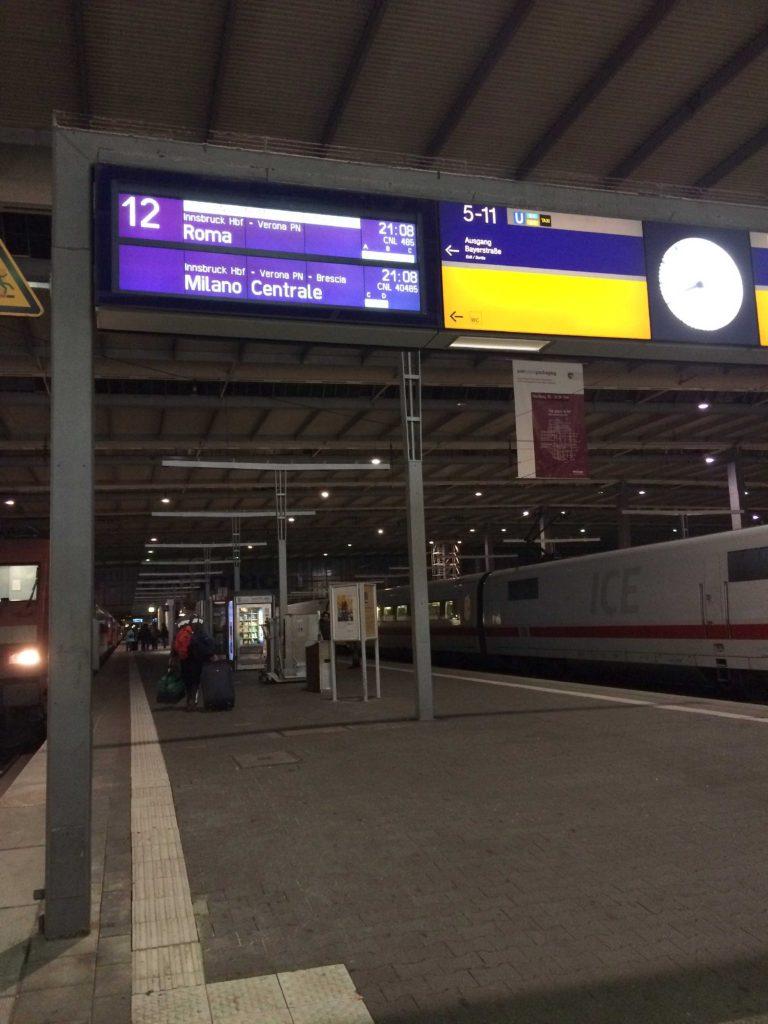 Estação de trem Hauptbahnhof em Munique
