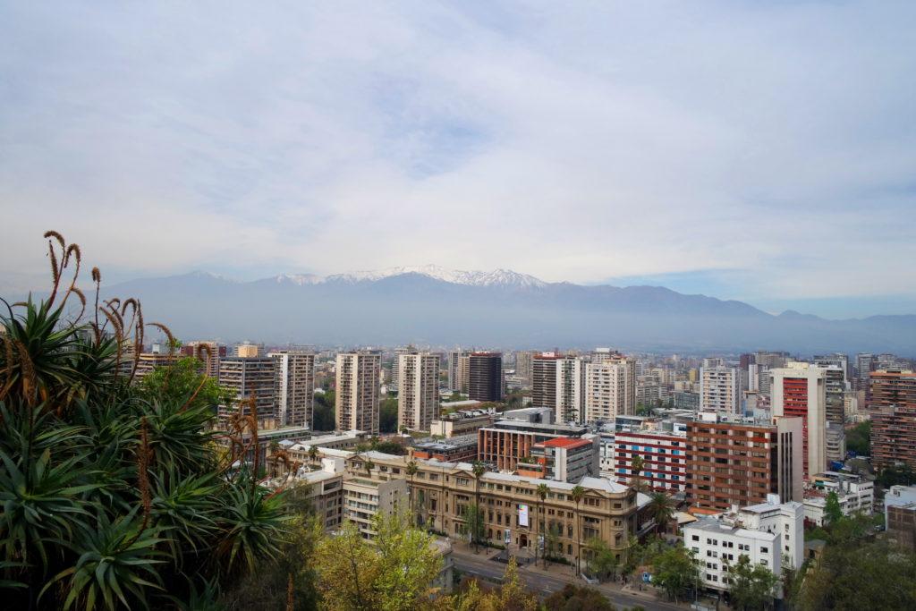 Cordilheira dos Andes vista do Cerro Santa Lucía