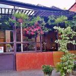Um café e livros no Flores na Varanda