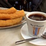 Churros com chocolate do Bar El Comercio