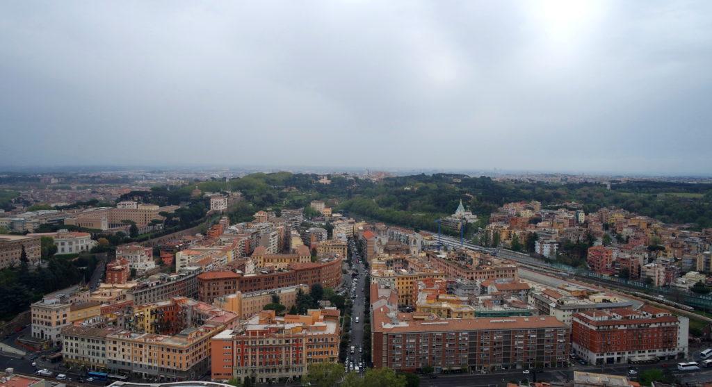 Vista dos prédios do Vaticano