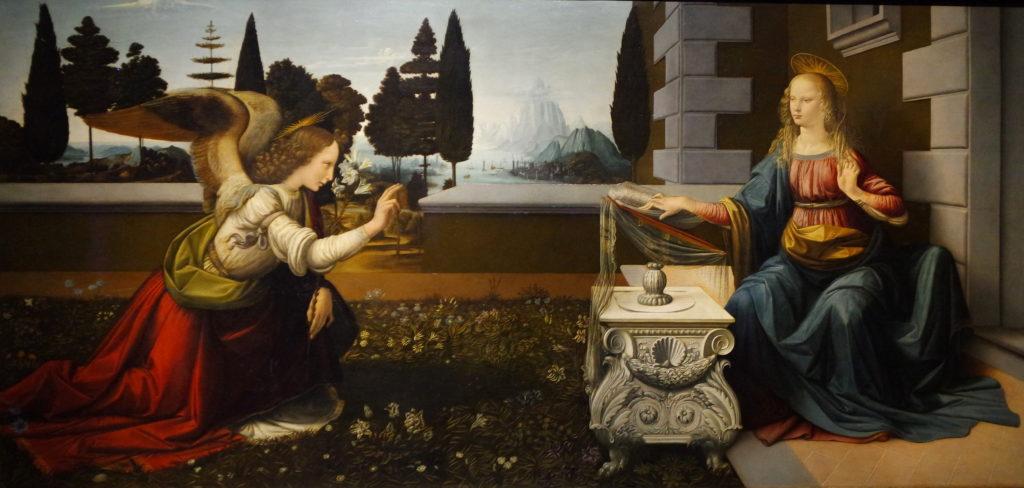 Anunciação, de Leonardo da Vinci