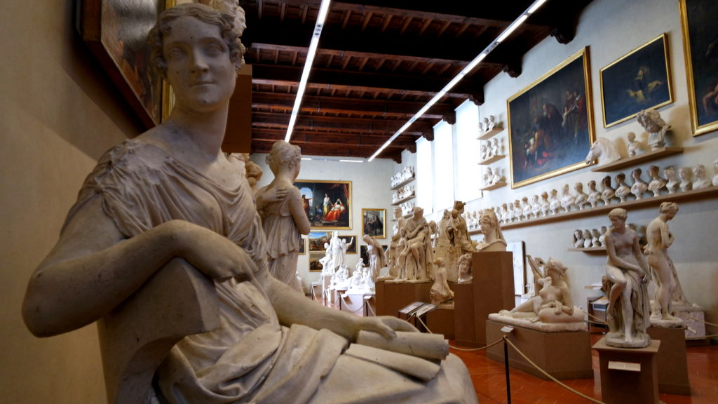 Esculturas na Galeria da Academia