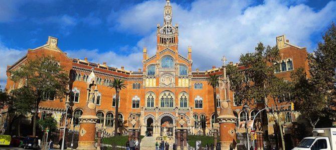 Visitando o Hospital Sant Pau em Barcelona