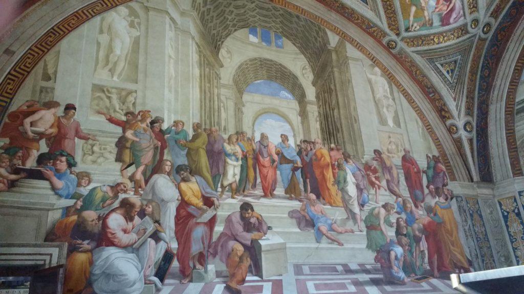 Escola de Atenas, uma das pinturas das Salas de Rafael