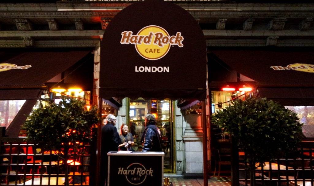 Entrada do hard Rock Café Londres