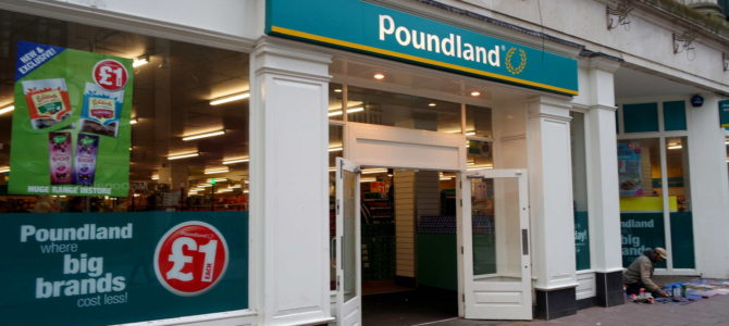 Poundland, as lojas 1,99 do Reino Unido