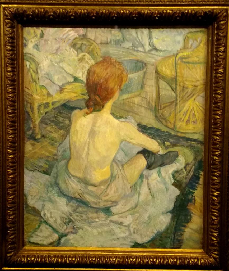 A Toilette, de Henri Toulouse - Lautrec, na exposição sobre o pós-impressionismo