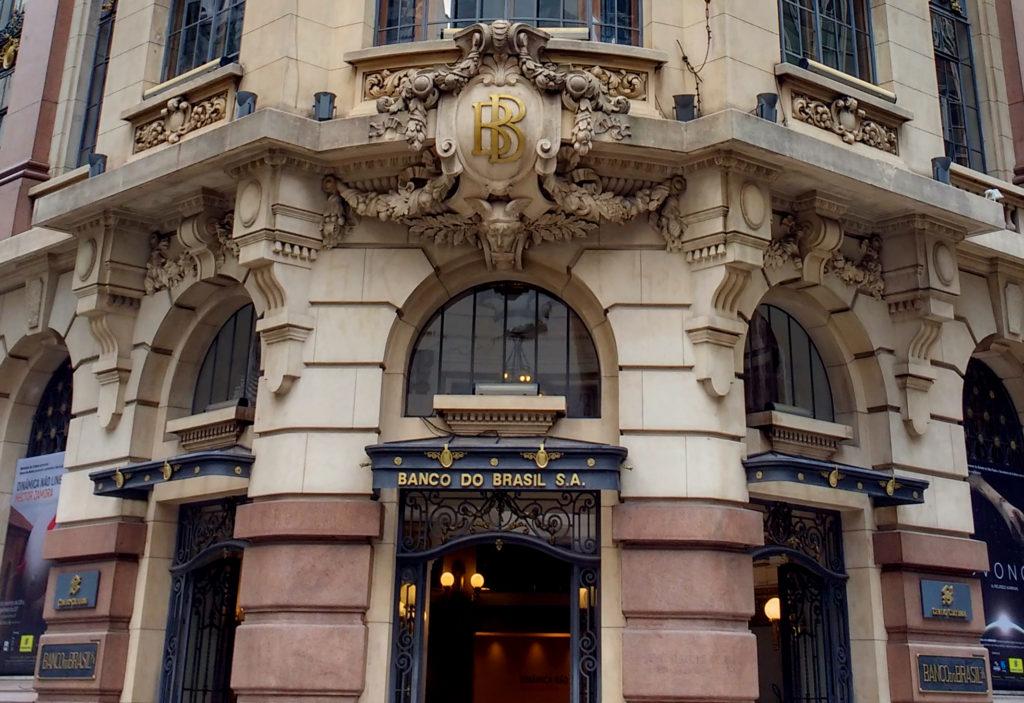 Detalhe do prédio do Centro Cultural banco do Brasil
