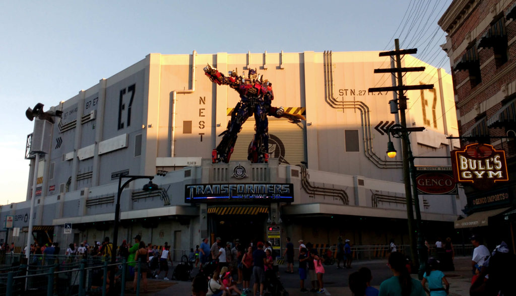 Simulador do Transformers, no parque Universal Studios