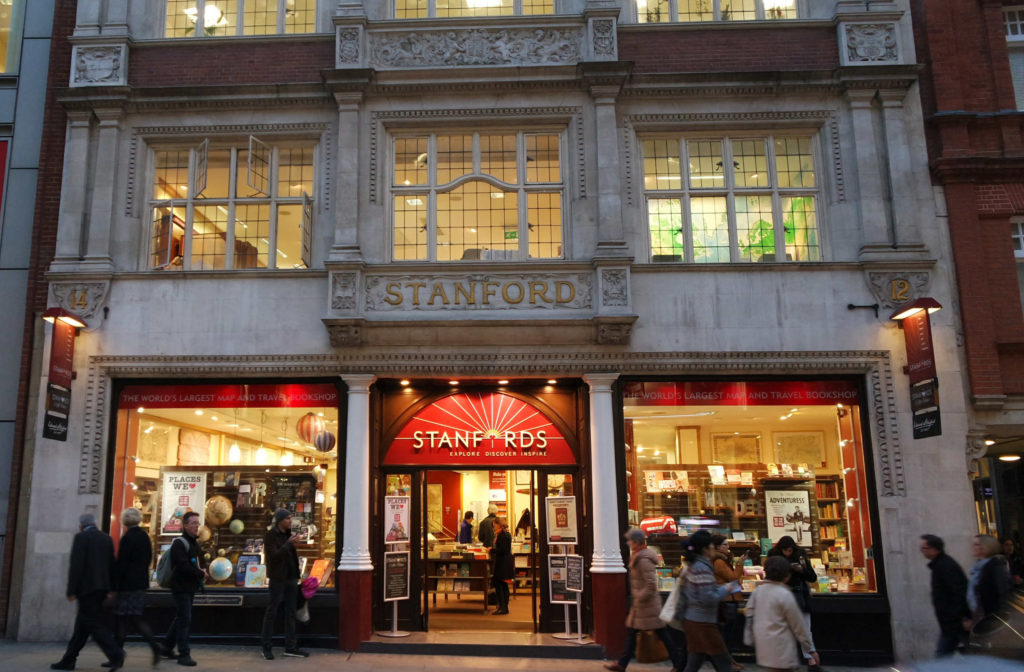 Prédio vitoriano da Stanfords, em Londres