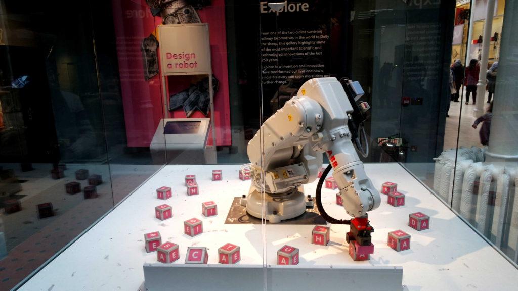 Robô museu nacional da escócia