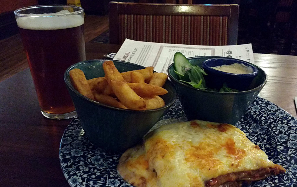 British Beef Lasagne with Chips