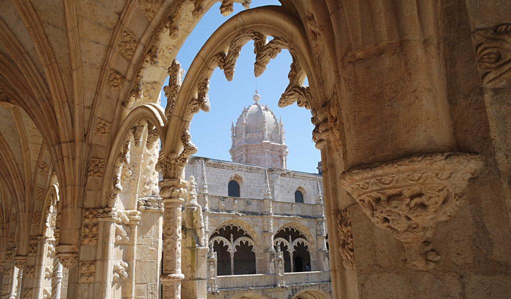 Detalhe da arquitetura do Mosteiro dos Jeronimos