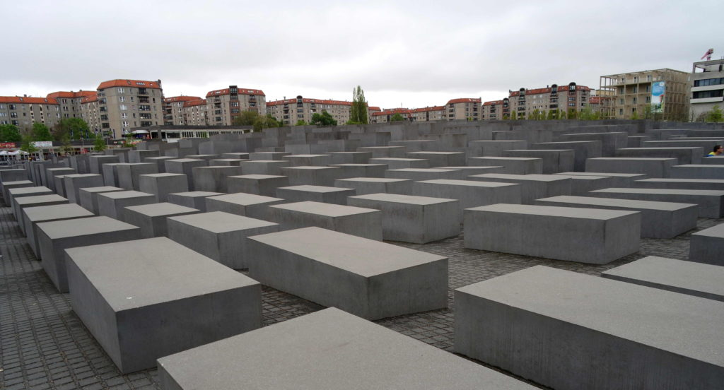 Pedras de concreto do Memorial do Holocausto de Berlim