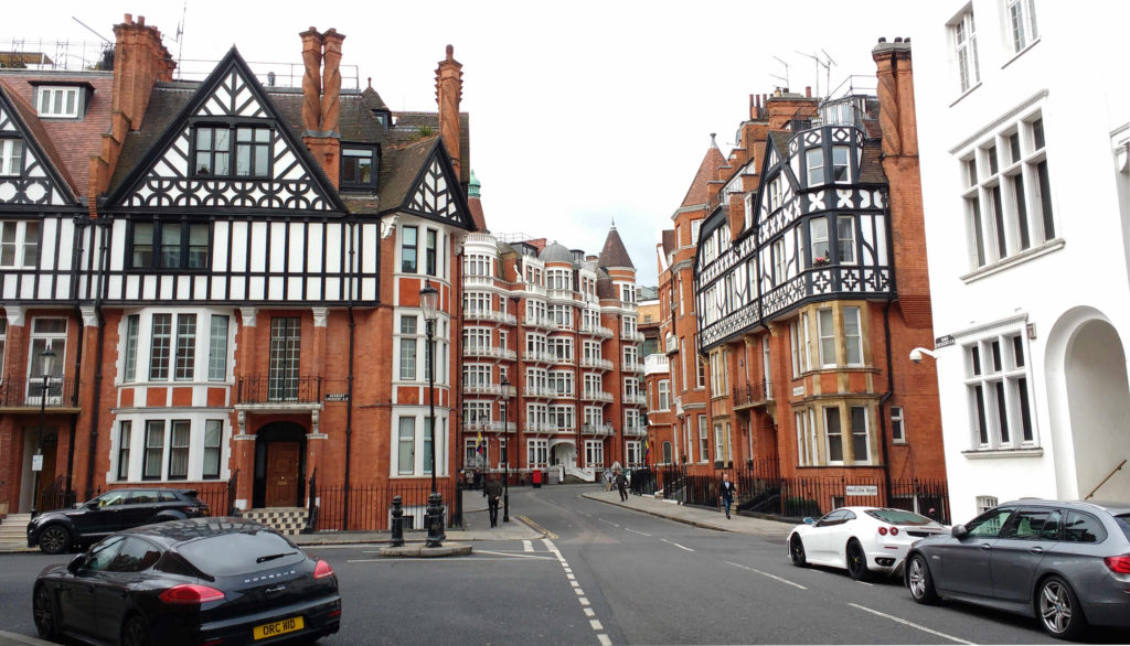 O bonito bairro de Knightsbridge