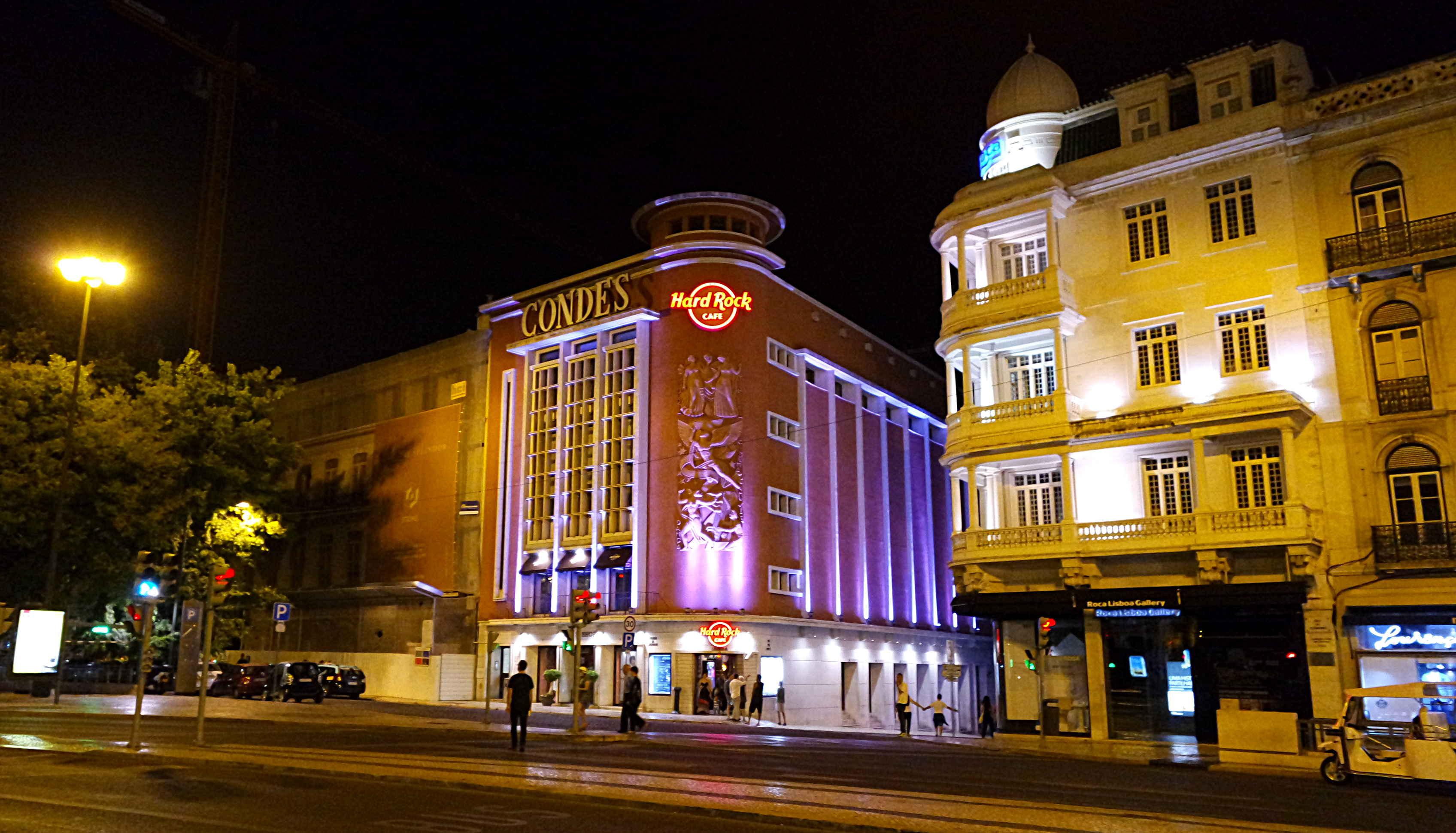 O prédio bacana do Hard Rock Cafe Lisboa