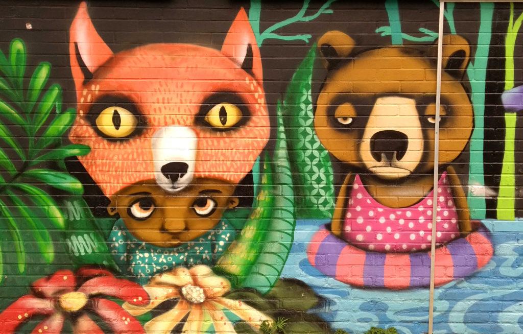 Grafite lindo da Karina Kot (instagram: @karinakot.sp), no Distrito Mooca