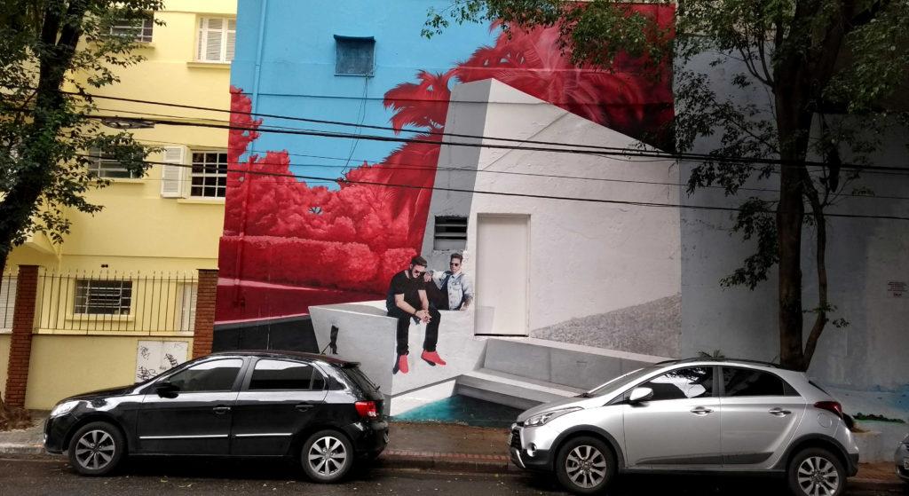 Arte de rua linda no bairro dos Pinheiros