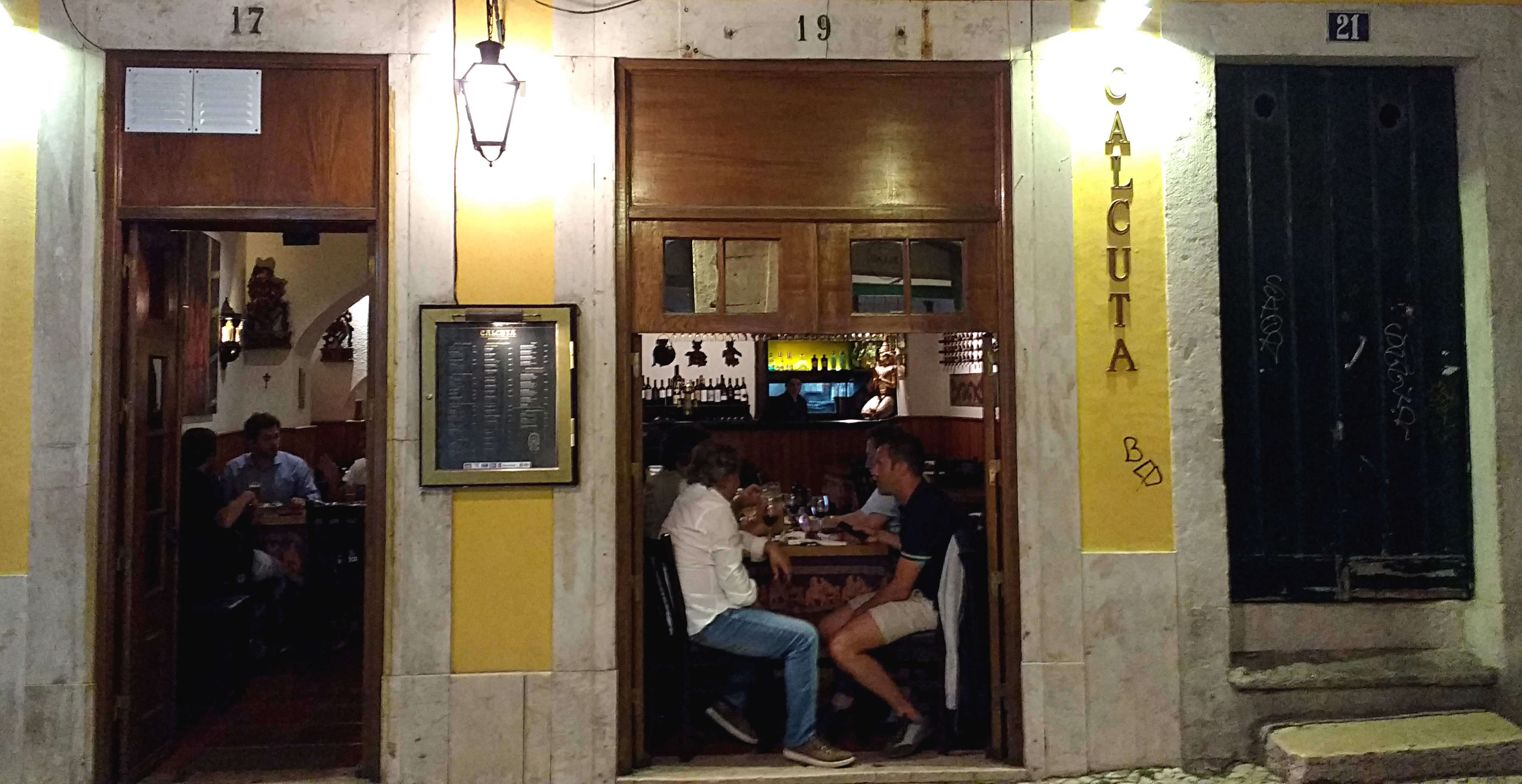 Restaurante indiano Calcutá, no Bairro Alto