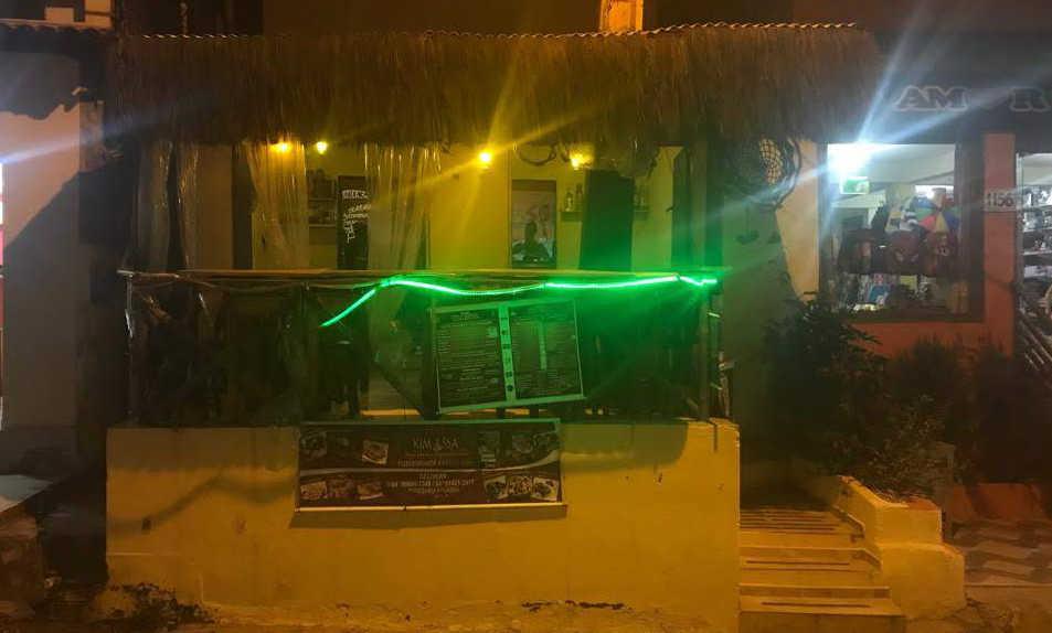 Restaurante Kimassa, na Avenida Baía dos Golfinhos