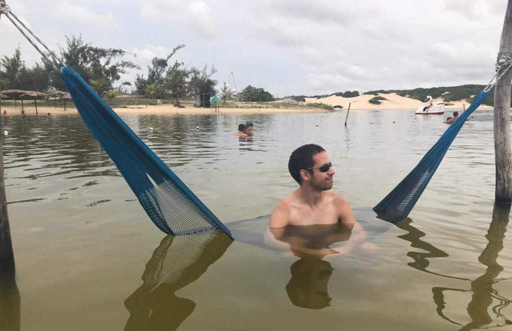 Rede no meio da Lagoa Pitangui, Natal RN