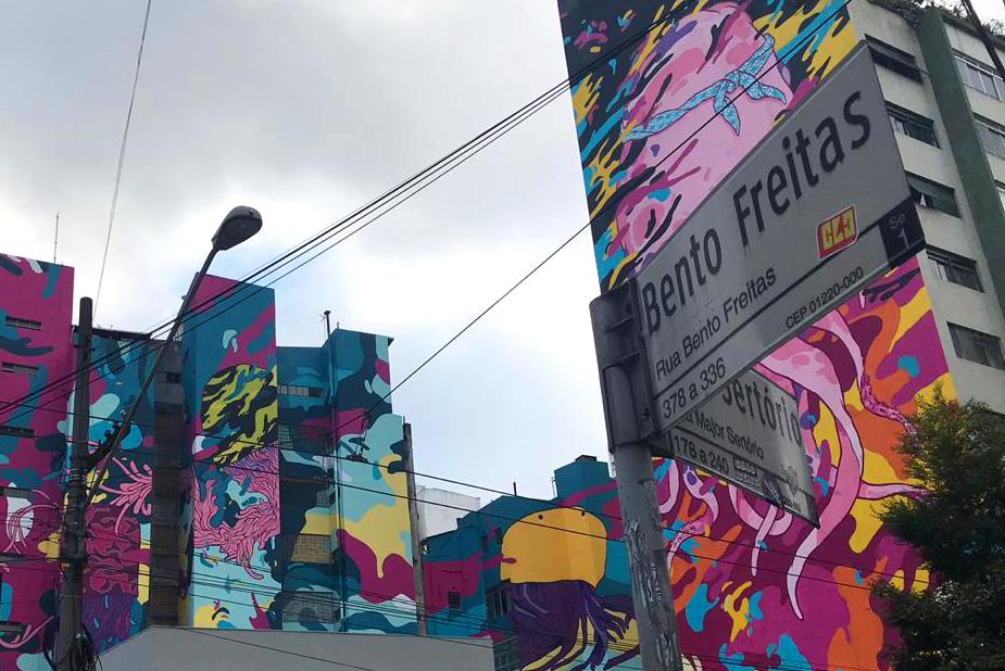Grafites da Bento de Freitas com a Major Sertório. Hot Pork