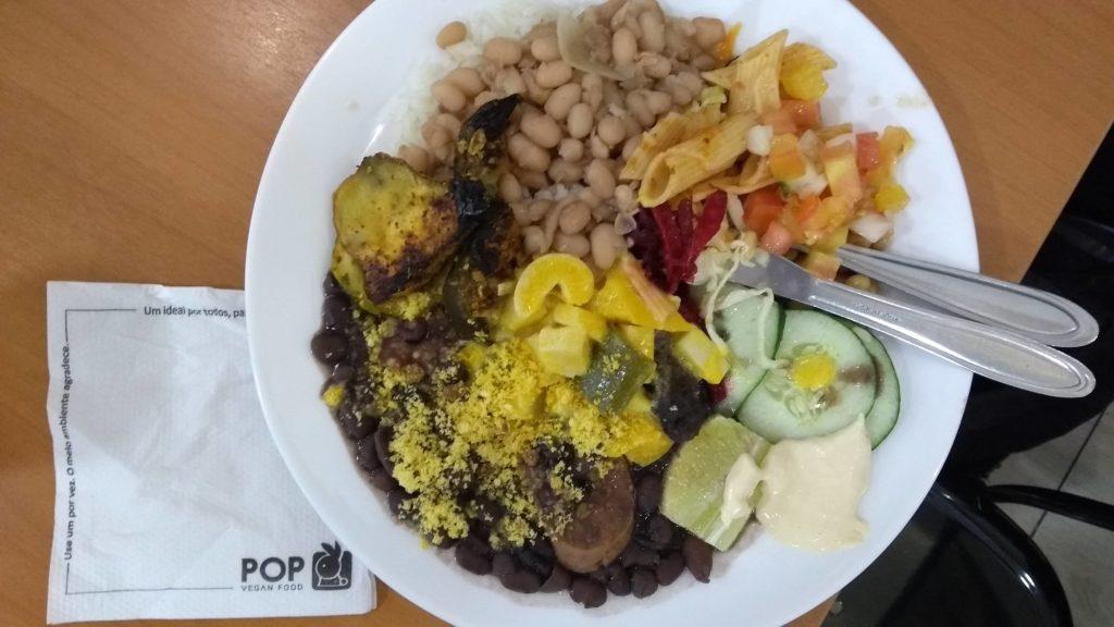 Almoço no Pop Vegan Food