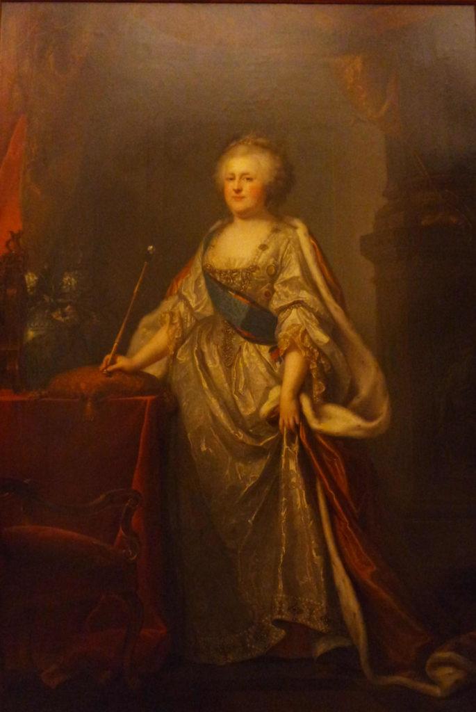 Imperatriz Catarina II, que deu início à vasta coleção do Hermitage