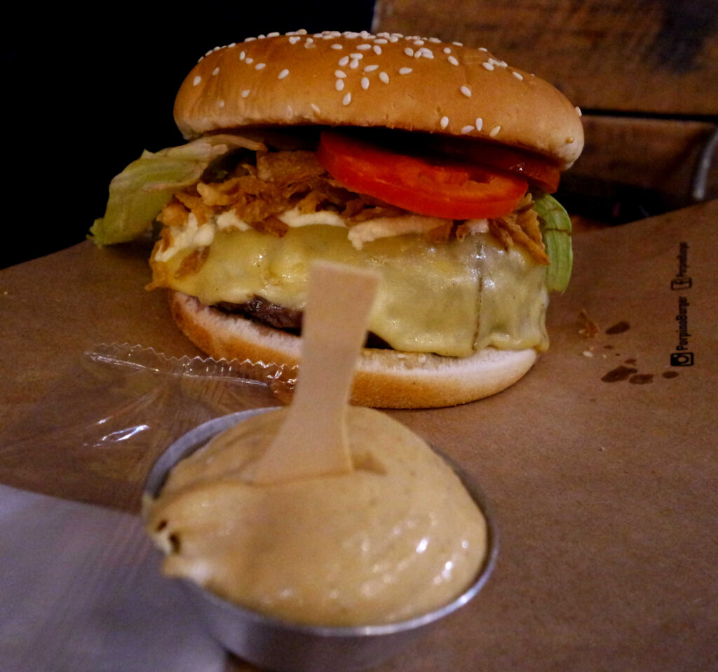 Hambúrguer no Porpino Burger