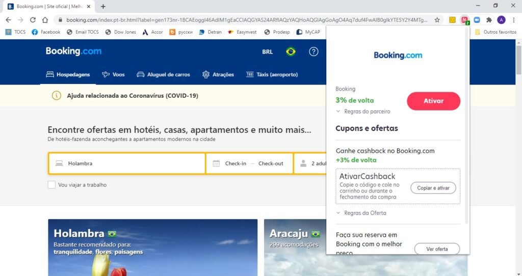 Como economizar no Booking com o cashback do Méliuz