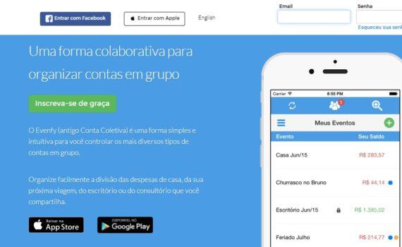Evenfy - app para divisão de contas